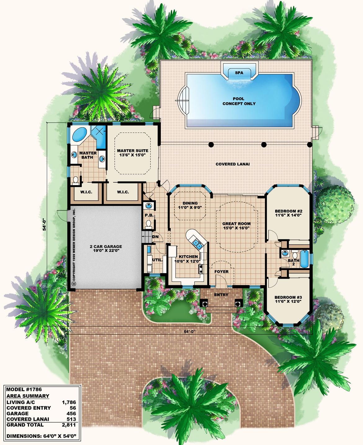 Model 1786 - Floor Plan