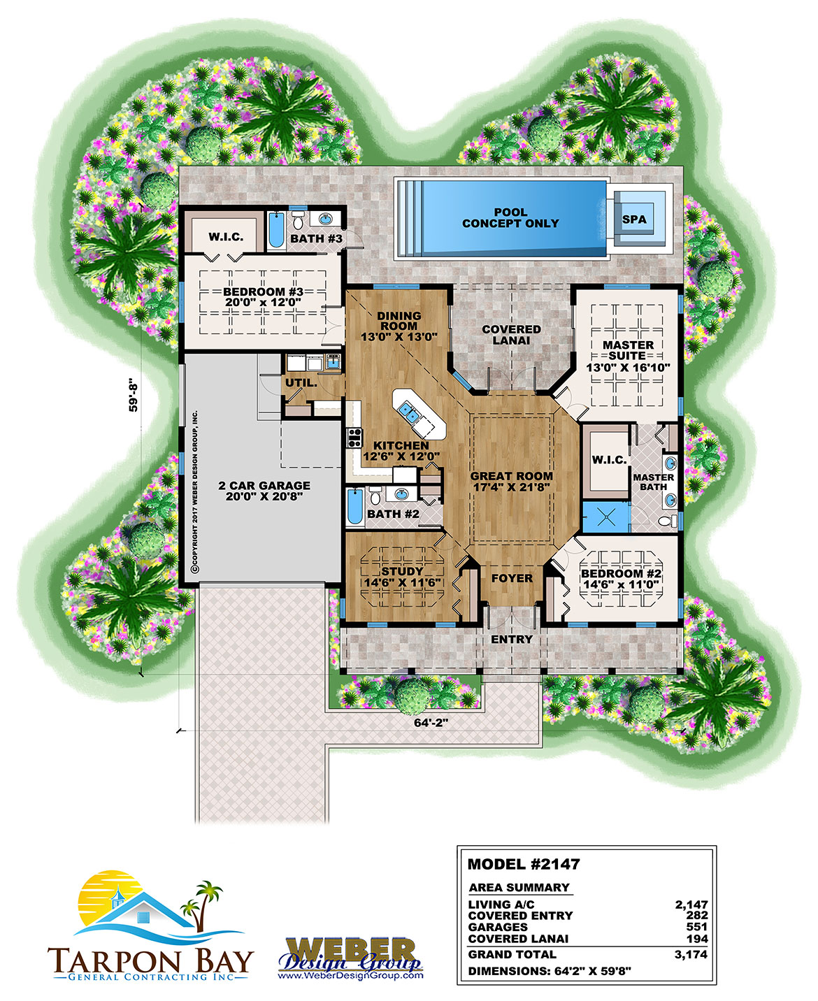 Home Model # 2147 Floor Plan