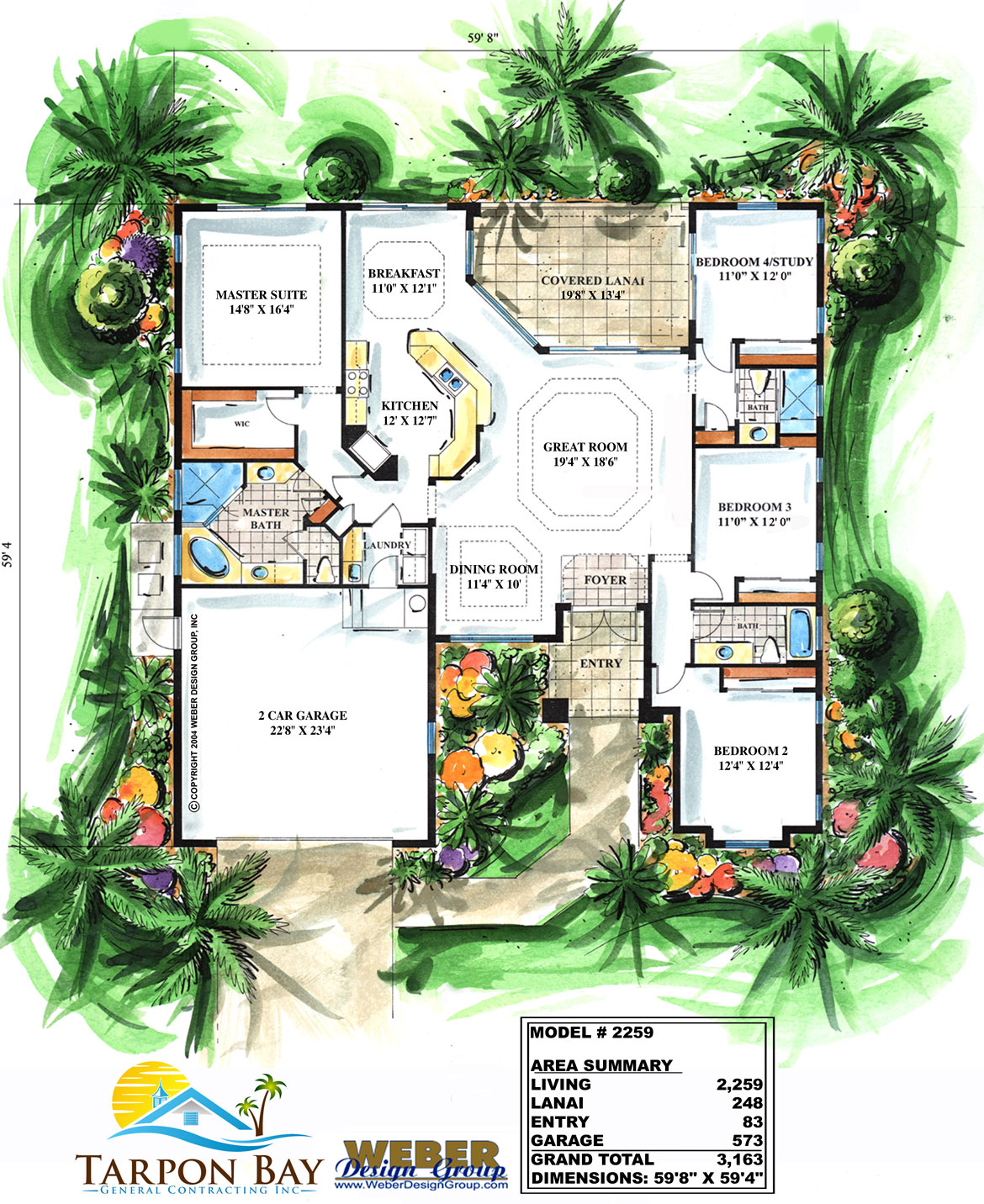 Home Model 2259 - Floor Plan
