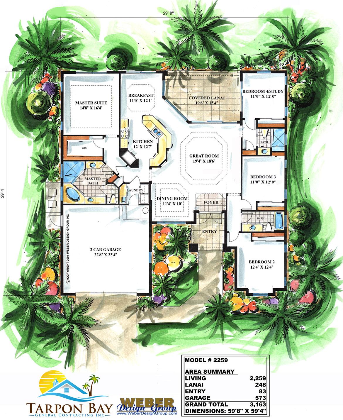 Home Model 2259 - Floor Plan