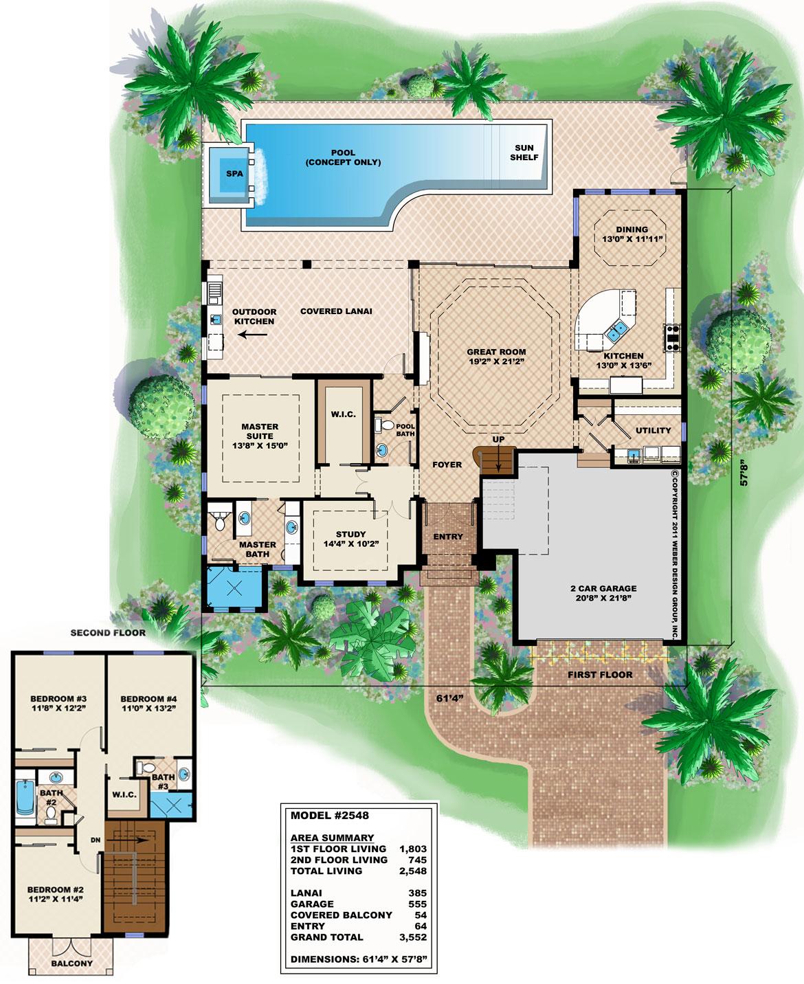 Model 2548 - Floor Plan