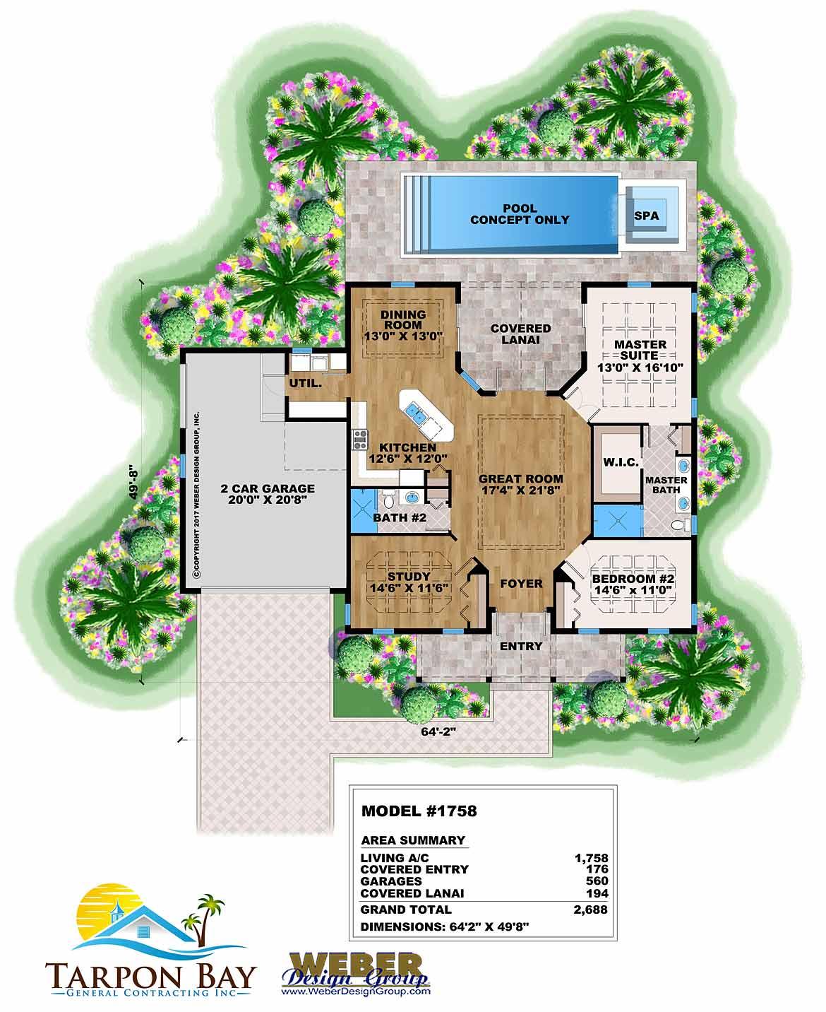 Model 1758 - Floor Plan